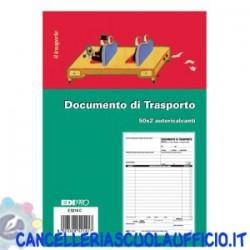 Blocco documento di trasporto 50x2 formato 22x14.8 Edipro