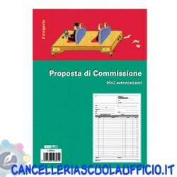 Blocco copia commissione 50x2 Formato 29,7x22 Edipro