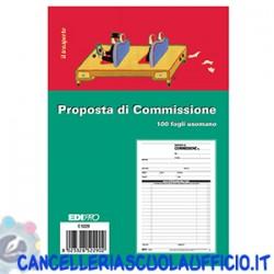 Blocco copia commissione 100 fogli. Formato 22x14,8 Edipro