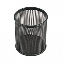 Bicchieri Porta matite metallo cm. 8 Nero