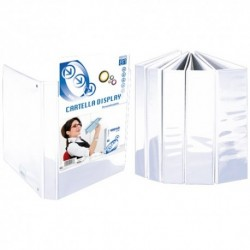 Cartelle 4 anelli Display 25 Bianco