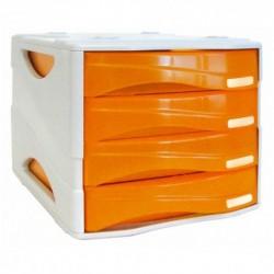 Cassettiera Arda Smile Grigio/Arancio