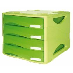Cassettiera Arda Smile tono su tono Verde