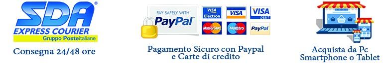 pagamento sicuro, spedizione prodotti cartoleria online
