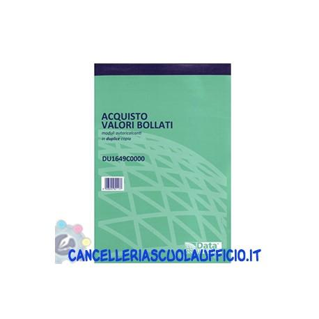 Blocco acquisto valori bollati 2 copie formato 21.5x15 Data Ufficio