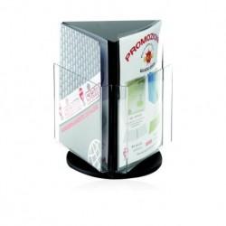 Portadepliant Girevole 3 tasche A6