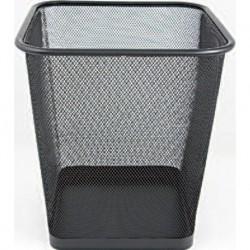Bicchieri Porta matite metallo quad. cm. 8 Nero
