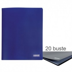 Porta Listini Memotak Basic 20 buste Blu