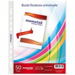 Buste 4 fori Memotak 22x30 150 micron 50 pz.
