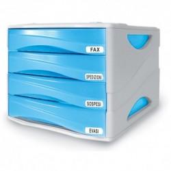 Cassettiera Arda Smile Grigio/Azzurro
