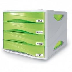 Cassettiera Arda Smile Grigio/Verde