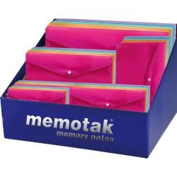 Buste con bottone Memotak Expo 120 pz. colori fluo