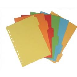 Divisori 6 spazi colorati in cartoncino