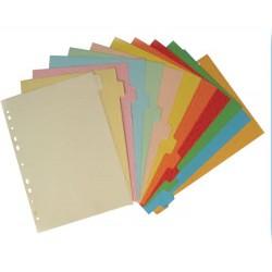 Divisori 12 spazi colorati in cartoncino