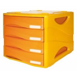 Cassettiera Arda Smile tono su tono Arancio