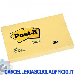 Foglietti Post it Giallo Canary 76x127